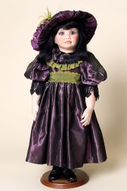 Katha - collectible limited edition porcelain soft body art doll by doll artist Amy Burgess.