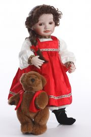 Natasha no.76212 - limited edition porcelain soft body collectible doll  by doll artist Kathy Barry-Hippensteel.