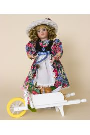 Mary Quite Contrary - limited edition porcelain soft body collectible doll  by doll artist Wendy Lawton.