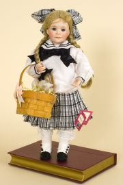 Pollyanna - limited edition porcelain soft body collectible doll  by doll artist Wendy Lawton.