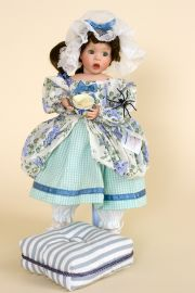 Little Miss Muffet - limited edition porcelain soft body collectible doll  by doll artist Wendy Lawton.
