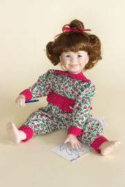 Princess - limited edition porcelain soft body collectible doll  by doll artist Jeanne Singer.