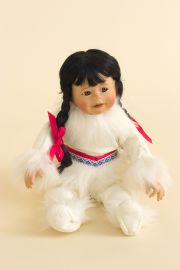 Miki - limited edition porcelain soft body collectible doll  by doll artist Kathy Barry-Hippensteel.