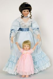 Loving Steps 76621 - limited edition porcelain soft body collectible doll  by doll artist Sandra Kuck.