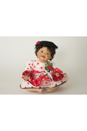 Rosa - limited edition porcelain soft body collectible doll  by doll artist Yolanda Bello.