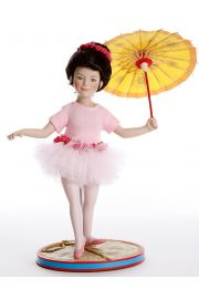 Katie the Tightrope Walker - limited edition porcelain soft body collectible doll  by doll artist Ashton-Drake.