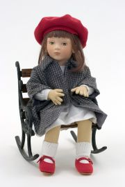 Corey - collectible limited edition felt molded art doll by doll artist Maggie Iacono.