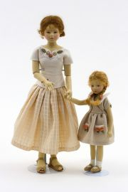 Mother's Day - collectible limited edition felt molded art doll by doll artist Maggie Iacono.
