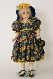 Sommer - collectible limited edition porcelain soft body art doll by doll artist Julia Rueger.