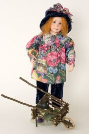 Cirby II - collectible limited edition porcelain soft body art doll by doll artist Julia Rueger.