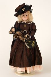 Piper - collectible limited edition porcelain soft body art doll by doll artist Julia Rueger.