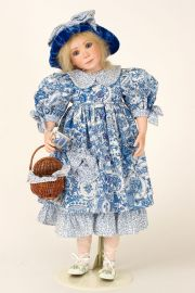 Laney - collectible limited edition porcelain soft body art doll by doll artist Julia Rueger.
