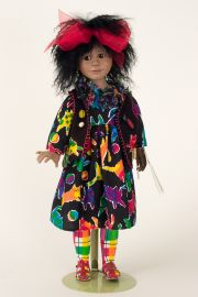 Squeak - collectible limited edition porcelain soft body art doll by doll artist Julia Rueger.