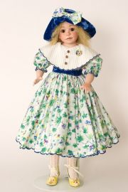 Katelyn - collectible limited edition porcelain soft body art doll by doll artist Julia Rueger.