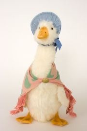 Jemima Puddle Duck - collectible limited edition felt molded art doll by doll artist R John Wright.