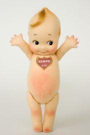 Klassic Kewpie - collectible limited edition felt molded art doll by doll artist R John Wright.