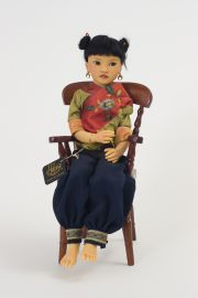 Jade II no.18 of 60 - collectible limited edition resin art doll by doll artist Heloise.