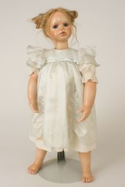 Baby Jane - collectible limited edition porcelain wax over art doll by doll artist Susan Krey.