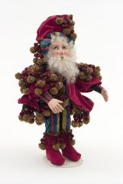 Siva the Wizard - collectible one of a kind cultured glass art doll by doll artist Pat Thompson.