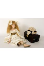 Sweet Adeline - collectible limited edition porcelain wax over art doll by doll artist Susan Krey.