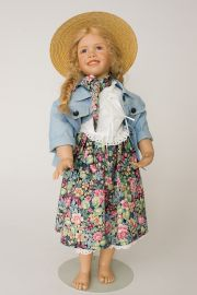 Rebecca - limited edition vinyl collectible doll  by doll artist Susan Krey.