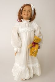 Bona Notte sic. - limited edition vinyl collectible doll  by doll artist Susan Krey.