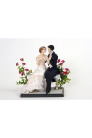 Love  A Couple From 1900 - collectible one of a kind porcelain direct sculpted art doll by doll artist Maria Ahren.