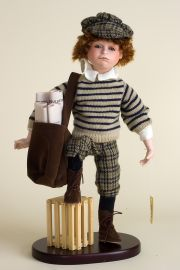 Spanky - limited edition porcelain soft body collectible doll  by doll artist Hal Payne.