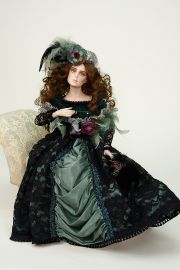Zoe - limited edition porcelain soft body collectible doll  by doll artist Seymour Mann.