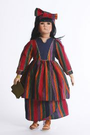 Memina - limited edition porcelain soft body collectible doll  by doll artist Michelle Severino.