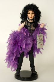 X-treme Diva Cher - collectible one of a kind porcelain art doll by doll artist Marilyn Houchen.