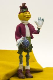Pumpkin Head - collectible limited edition resin art doll by doll artist Kathryn Walmsley.