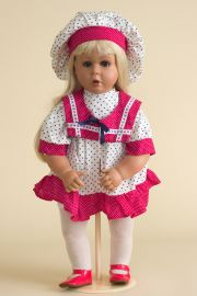 America - collectible limited edition vinyl play doll by doll artist Johanna Zook.