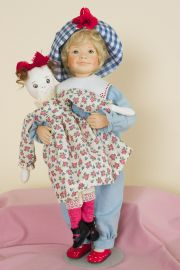 Elice Jacqueline - collectible limited edition porcelain soft body art doll by doll artist Maryanne Oldenburg.