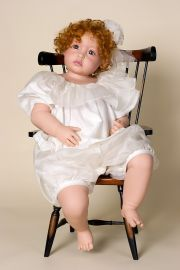 Desiree - collectible limited edition vinyl soft body art doll by doll artist Philip Heath.