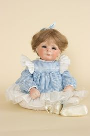 Susan - collectible limited edition porcelain soft body art doll by doll artist Judith Turner.