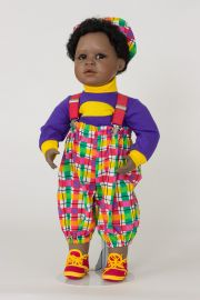 Terrance - collectible limited edition porcelain soft body art doll by doll artist Virginia Turner.