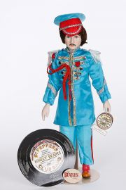 Beatle Paul McCartney Sgt. Pepper Set - limited edition porcelain soft body collectible doll  by doll artist Beatles.