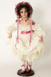Anna Kristen - collectible limited edition porcelain soft body art doll by doll artist Janet Ness.