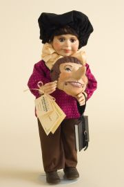 Pinnochio - limited edition resin collectible doll  by doll artist Faith Wick.