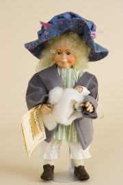 Bye Bye Bunting - limited edition resin collectible doll  by doll artist Faith Wick.