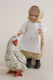 Goosey Goosey Gander - limited edition resin collectible doll  by doll artist Faith Wick.