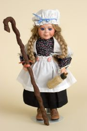 Bo Peep - limited edition porcelain collectible doll  by doll artist Faith Wick.