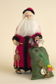 Gift Giver - limited edition resin collectible doll  by doll artist Faith Wick.