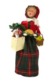 Woman Bearing Gifts - collectible limited edition mixed media caroler figurine by Byers' Choice, Ltd.