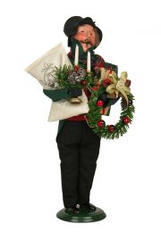 Man Bearing Gifts - collectible limited edition mixed media caroler figurine by Byers' Choice, Ltd.