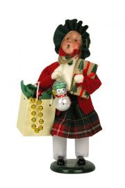 Girl Bearing Gifts - collectible limited edition mixed media caroler figurine by Byers' Choice, Ltd.