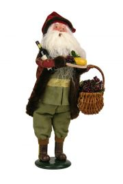 Wine Santa - collectible limited edition mixed media caroler figurine by Byers' Choice, Ltd.
