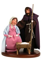 Holy Family - collectible limited edition mixed media caroler figurine by Byers' Choice, Ltd.