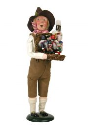 Nutcracker Vendor - collectible limited edition mixed media caroler figurine by Byers' Choice, Ltd.